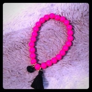 Southern Charm hot pink& tassels